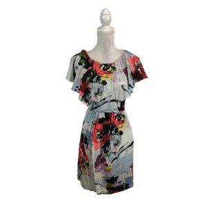 Julie Dillon New York Silk Sheath Dress Floral 6